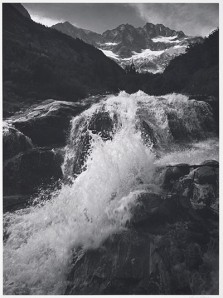 Ansel Adams: Waterfall, Northern Cascades, Washington