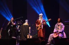 Saharan Touareg band Tamikrest performs at Sahara Soul, a music festival at the Barbican Hall in London